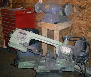 custom knives metal cutting bandsaw