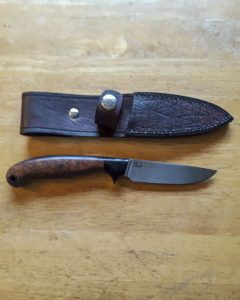 "Sandstorm Custom Knives 4"" Drop Point Hunter Knife"