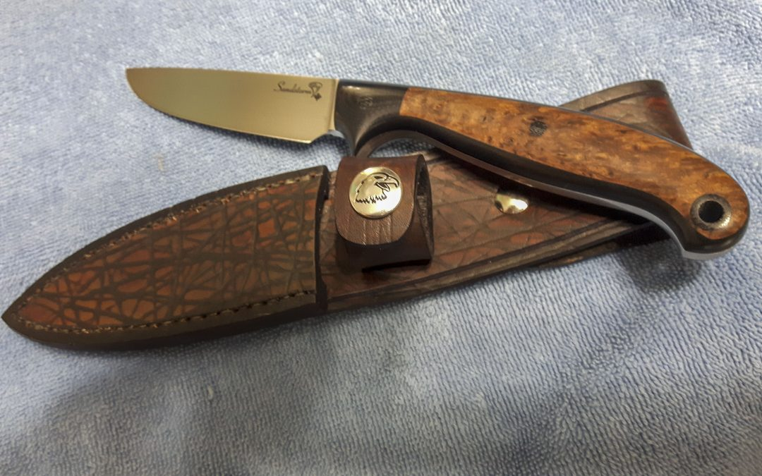 Gorgeous 4″ Drop Point Hunter Knife